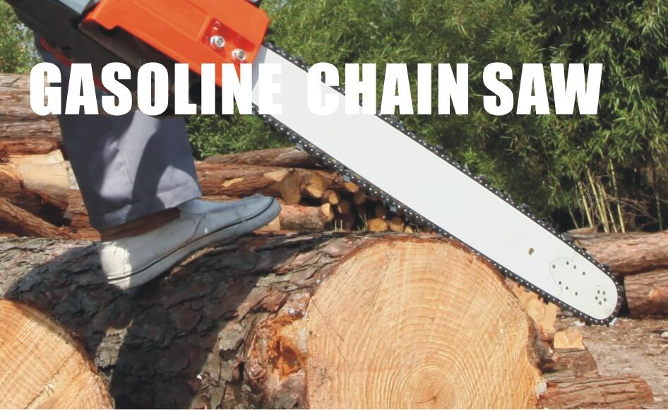 Using the method of chain saw and maintenance skills